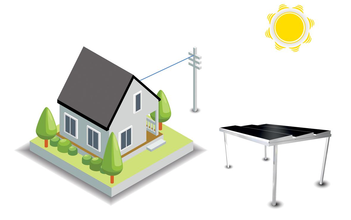 schéma pergola solaire énergétique